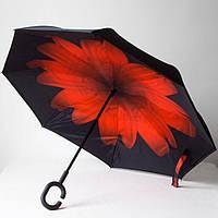 Зонт нового поколения с рисунком цветочка