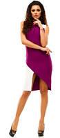 Стильное двухцветное платье - GA176