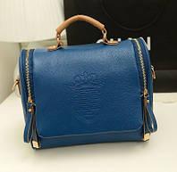 Стильная модная женская сумка, цвет синий, без ремня на плечо