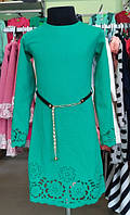 Стильное платье Елегант с поясом на рост 128 см, 134 см, 140 см, 146 см, 152 см Польша