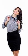 Стильная молодежная блузка в горошек Турция