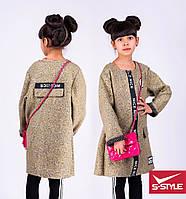 Весеннее пальто для девочки с надписями