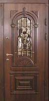Входные двери Абвер с стеклопакетом и ковкой
