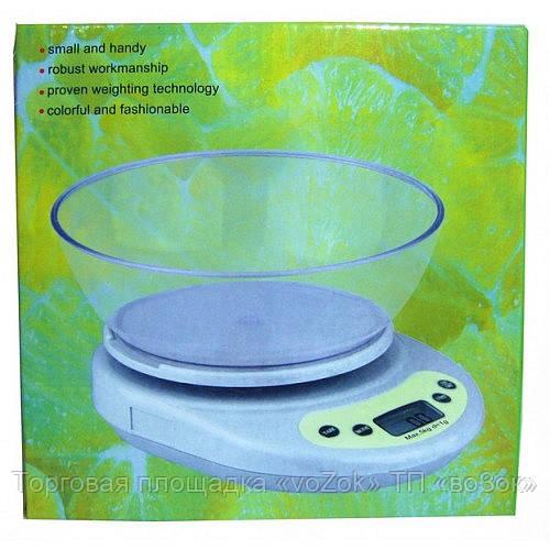 Весы кухонные электронные с чашей С 114, фото 1