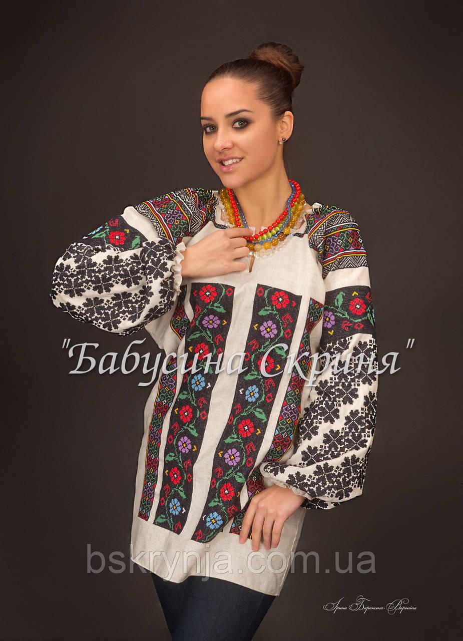 Заготовка Борщівської жіночої сорочки для вишивки нитками/бісером БС-84