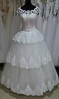 """Свадебное платье Шик-10"""" (юбка - каскадные кружева)"""