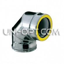 Отвод(колено) утепленный 90° нерж/оцинк AISI 304