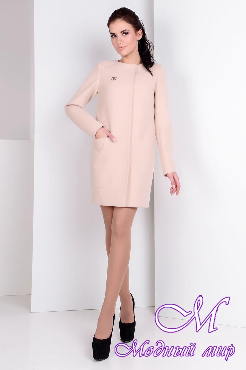 Женское весеннее кашемировое пальто (р. S, M, L) арт. Лав лайт 9760