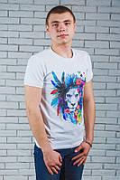 Мужская футболка с печатью белая, фото 1