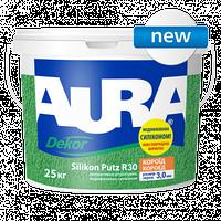 Структурная штукатурка, модифицированная силиконом «короед», зерно 3,0 мм, Aura Dekor Silikon Putz R30