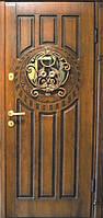 Двери входные элит МДФ с ковкой Fortlock