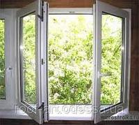 Окно металлопластиковое 1300*1400 Rehau'60 со штульпом