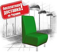 Кресло из кожзама для кафе, офиса зеленое, фото 1