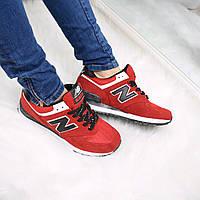 Кроссовки женские New Balance красные , спортивная обувь