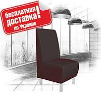 Кресло из кожзама для кафе, офиса черное, фото 1