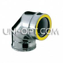 Отвод(колено) утепленный 90° нерж/нерж 321AISI