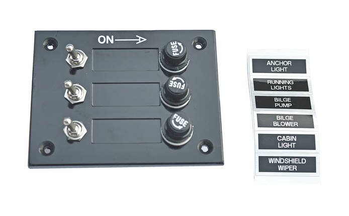 Панель переключателей в лодку на 3 переключателя, фото 2