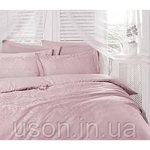 Комплект  постельного белья deco bianca евро размер жаккард jk16-05-pudra