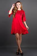 Оригинальное платье Айви р.44;50;52 красный