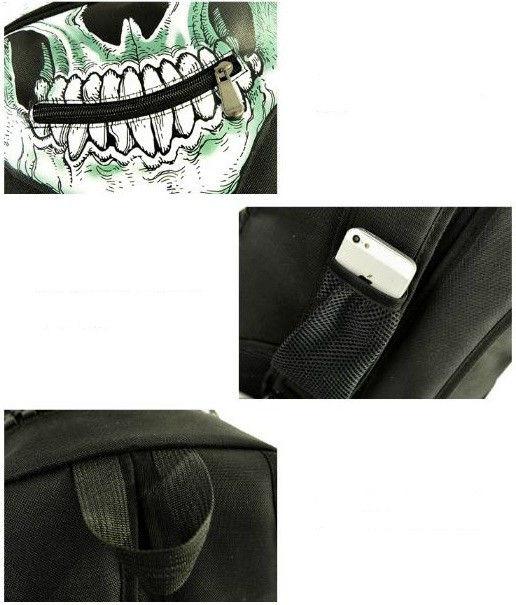 стильный рюкзак с черепом