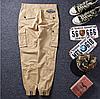 Штаны на манжетах с боковыми карманами Карго Dustbin, фото 2