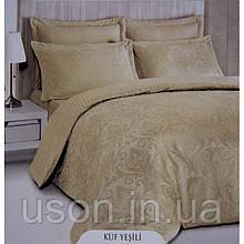 Комплект  постельного белья deco bianca евро размер жаккард jk16-04-kofe