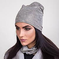 Комплект из шапки и хомута для женщин на весну 2017 - Артикул 2063b