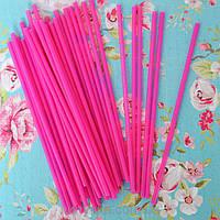 Палочки для кейк-попсов (ярко-розовые), 50 шт.