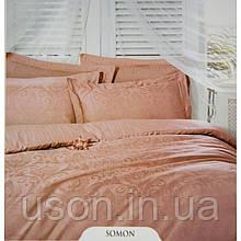 Комплект  постельного белья deco bianca евро размер жаккард jk16-03-lososevoe