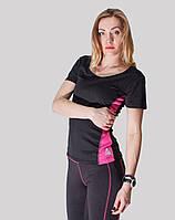 Летняя распродажа!  Женская черная спортивная футболка United Sport. р. S, L, XL,XXL.