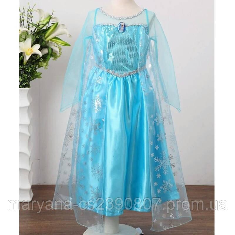 1032e7f2e Карнавальное платье Эльзы с накидкой для девочек 3-6 - Интернет-магазин  одежды для