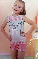Пижама для девочки с шортиками