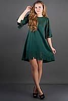 Оригинальное платье Айви р.44;46;50 темно-зеленый