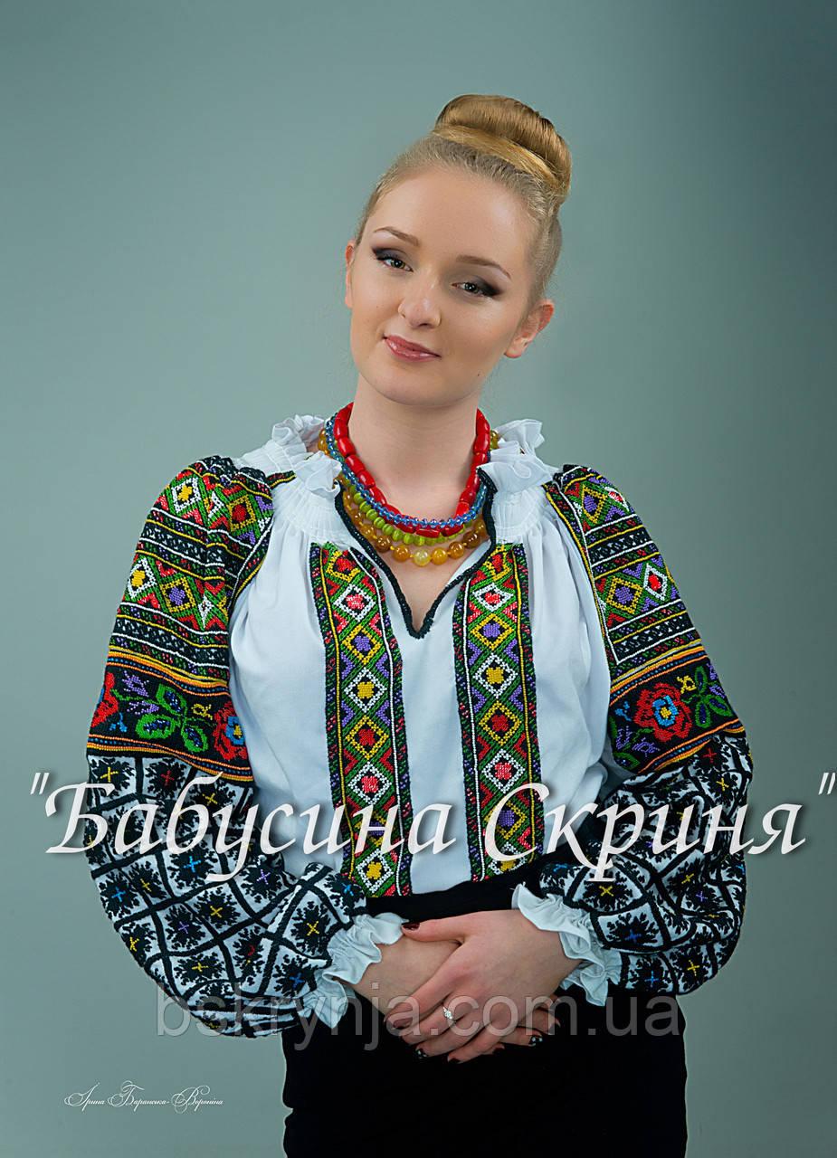Заготовка Борщівської жіночої сорочки для вишивки нитками бісером БС-89  білий 61949163aab49