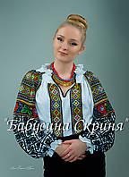 Заготівля голови чортківської жіночої сорочки для вишивки нитками/бісером БС-89, фото 1