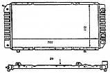 Радиатор охлаждения Peugeot Boxer 1994-2002 (1.9TD) 700*418мм по сотах KEMP, фото 3