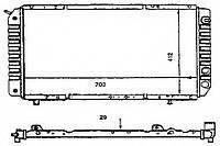 Радиатор Peugeot Boxer, Fiat Ducato, Citroen Jumper 94-02 700*418 1.9TD