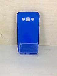 Силиконовый чехол-накладка для Samsung Galaxy A3 2015 (A300) (Синий)