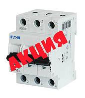 Трехполюсный автоматический выключатель 25А EATON PL4-C25/3