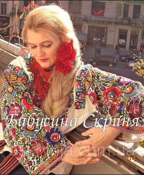 Заготовка Борщівської жіночої сорочки для вишивки нитками/бісером БС-98
