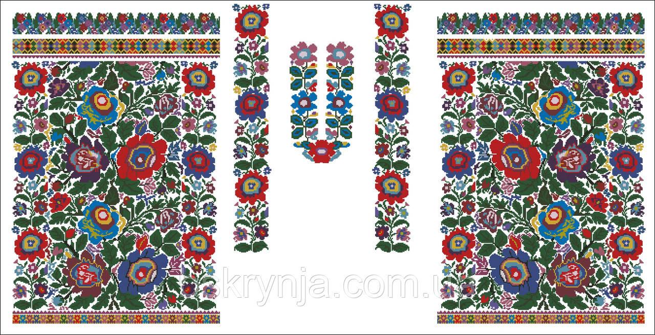 Заготовка Борщівської жіночої сорочки для вишивки нитками бісером БС ... 6a8570a178a33