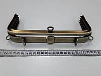 Рамочный замок для сумки D0417 ст.латунь 25 см