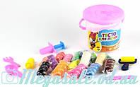 Тесто для лепки (пластилин для лепки) Часики, 3 вида: 16 цветов + инструменты