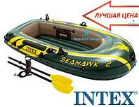 Надувная лодка Seahawk 2 Set Intex 68347 Весла+насос