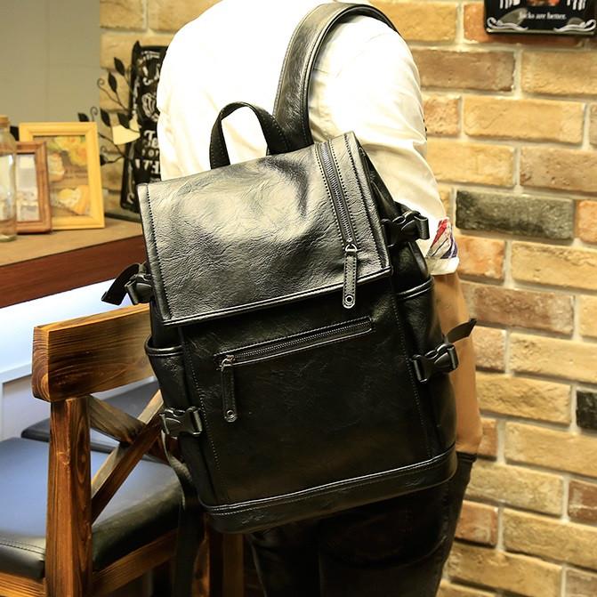 Мужской кожаный рюкзак. Модель 2901