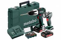 Metabo SB 18 LT Набір: Аку. Ударний дриль-шуруповерт 18В, 2x2.0Аг + ULA LED + набір біт SP 15 шт., артикул 602