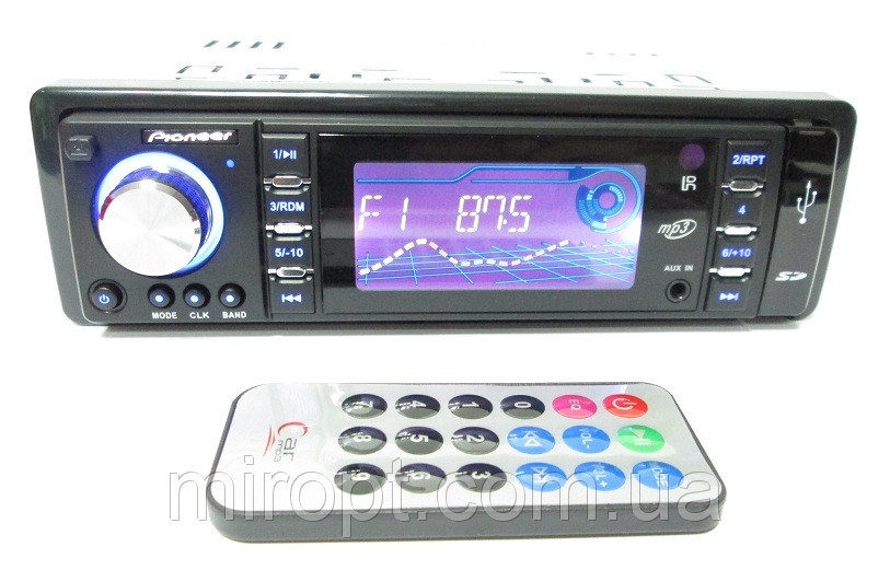 Автомагнитолы Pioneer 3100U Usb+Sd+Fm+Aux+ пульт