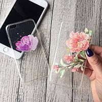 Силиконовые чехлы с цветочным принтом для iPhone 7