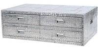 Столик кофейный Aviator trunk End table AVT23. Металл алюминий. Столик в стиле Лофт. Ручная работа. Сделано в Индии.