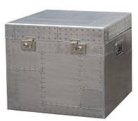 Столик кофейный Aviator trunk End table AVT24. Металл алюминий. Столик в стиле Лофт. Ручная работа. Сделано в Индии.